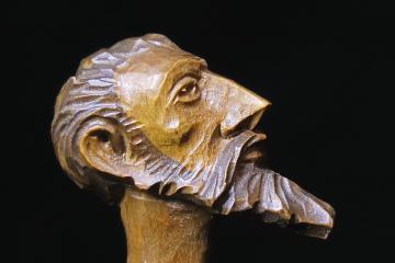 Profil de Don Quichote - Statuette en bois d'olivier
