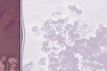 Arrière plan - Menu rétro végétal à colonne