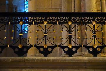 Grille en fer forgé - Intérieur de la cathédrale Saint-Cyr Sainte-Juliette de Nevers