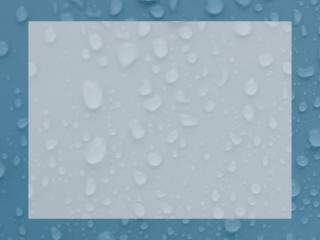 Cadre à gouttes d'eau bleu-gris