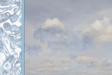 Arrière-plan de menus et cartes - Eau et nuages