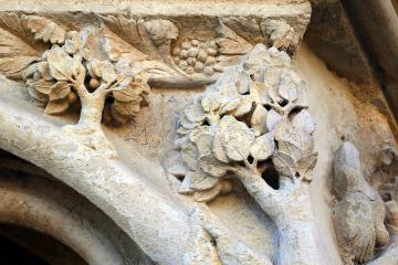 Détails sculptés de la cathédrale de Bourges