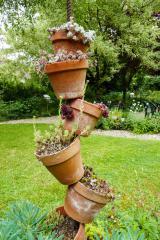 Agencement de pots de fleurs