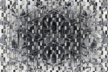 Arrière-plan - Géométrie architecturale - animation de surface