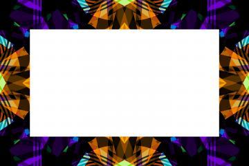 Cadre géométrique à fond blanc - Harmonie colorée