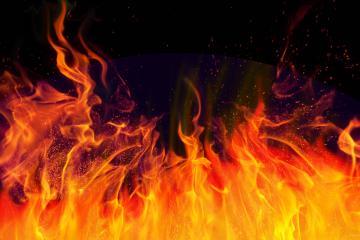 Flammes déchaînées