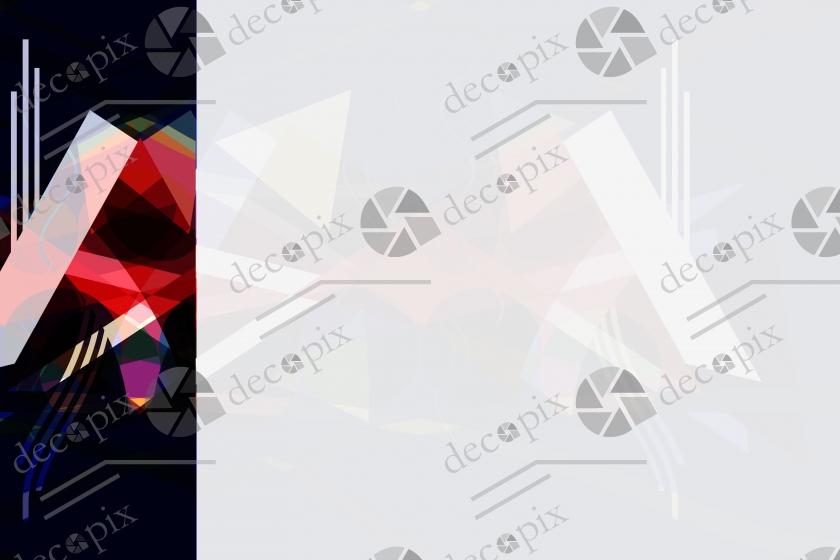 Arrière-plan - Menu à formes géométriques abstraites