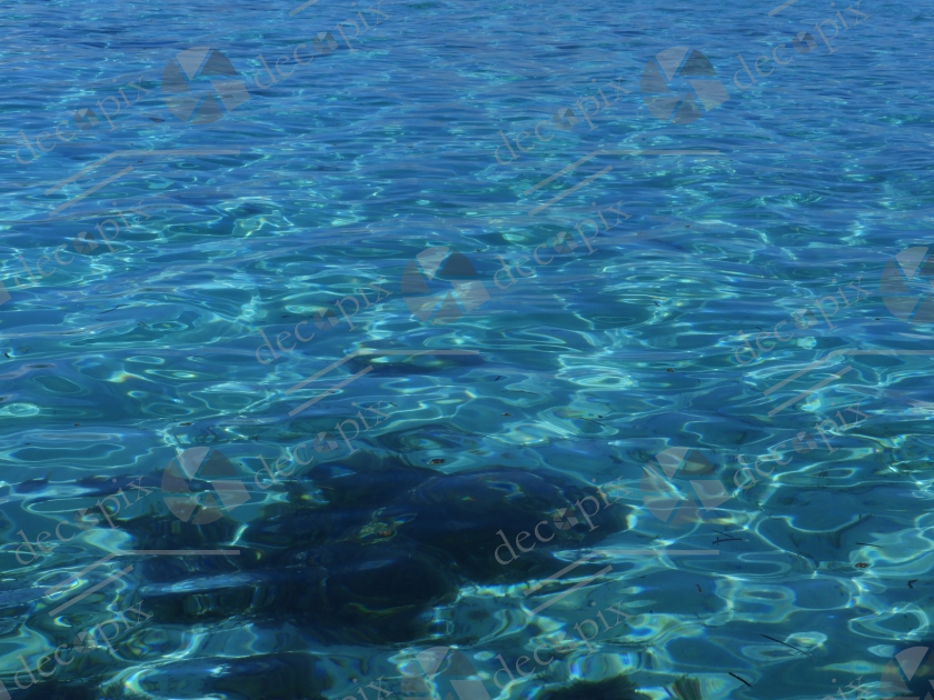 Transparence et reflets dans l'eau de mer