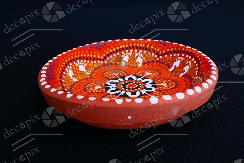 Coupelle en céramique à motifs éthniques