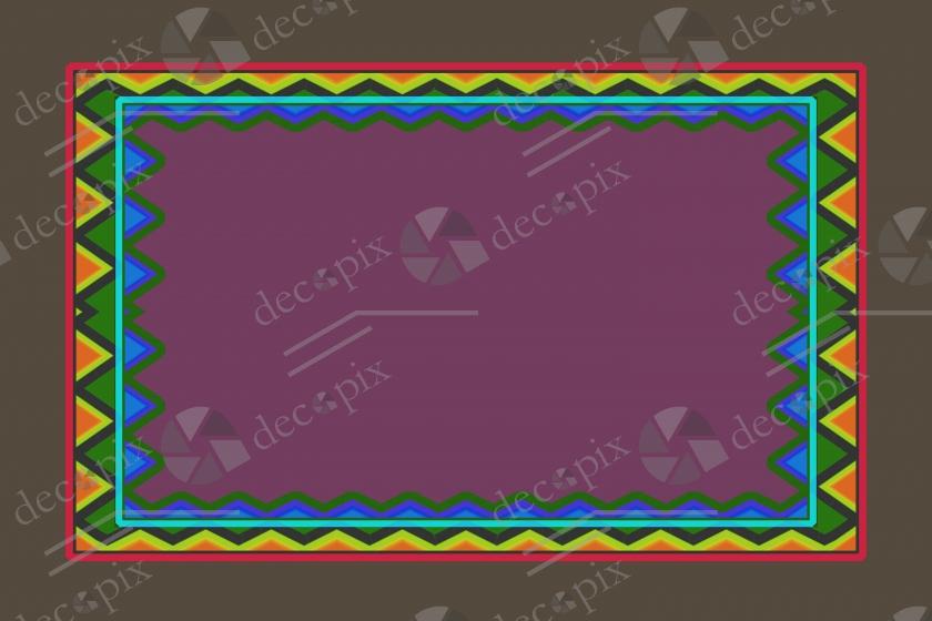 Cadre tribal géométrique à fond violet