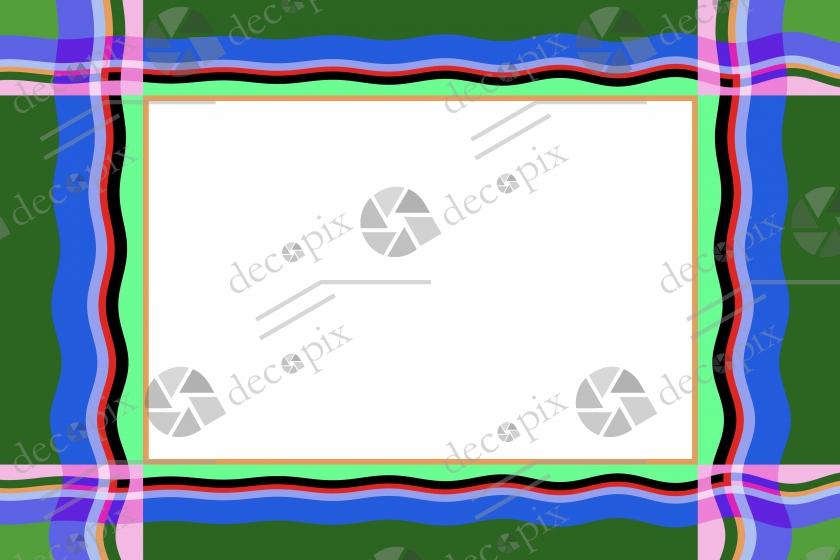 Cadre tonique à motif de vague à fond blanc