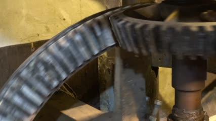 Roues dentées de moulin en rotation