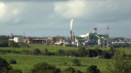 Plan large de l'usine du Gol - Ile de la Réunion